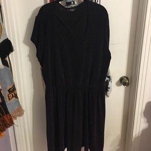 Black dress with purple sparkles